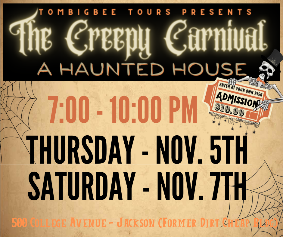 CREEPY CARNIVAL THURS AND SAT